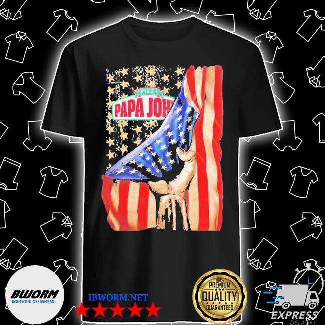 Pizza papa john american flag independence shirt