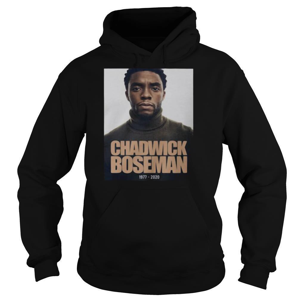 Rip black panther chadwick Boseman actor 1977 2020 shirt