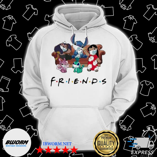 Stitch friends face mask s Classic Hoodie
