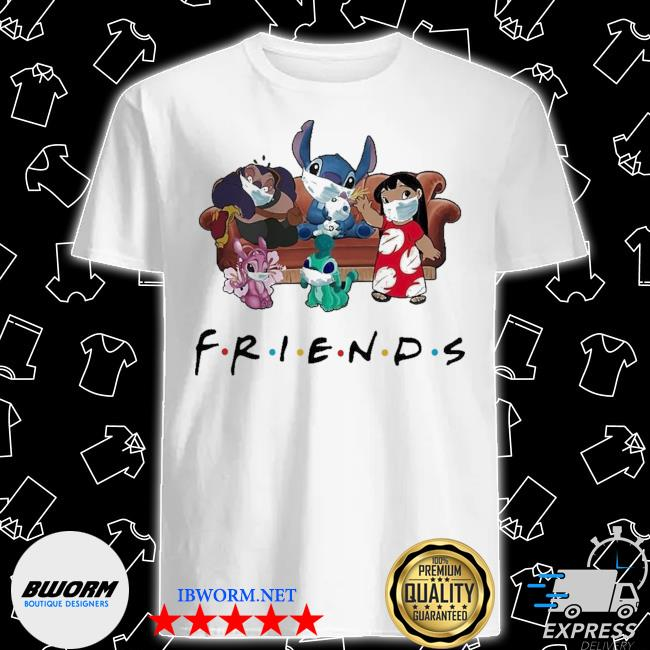 Stitch friends face mask shirt