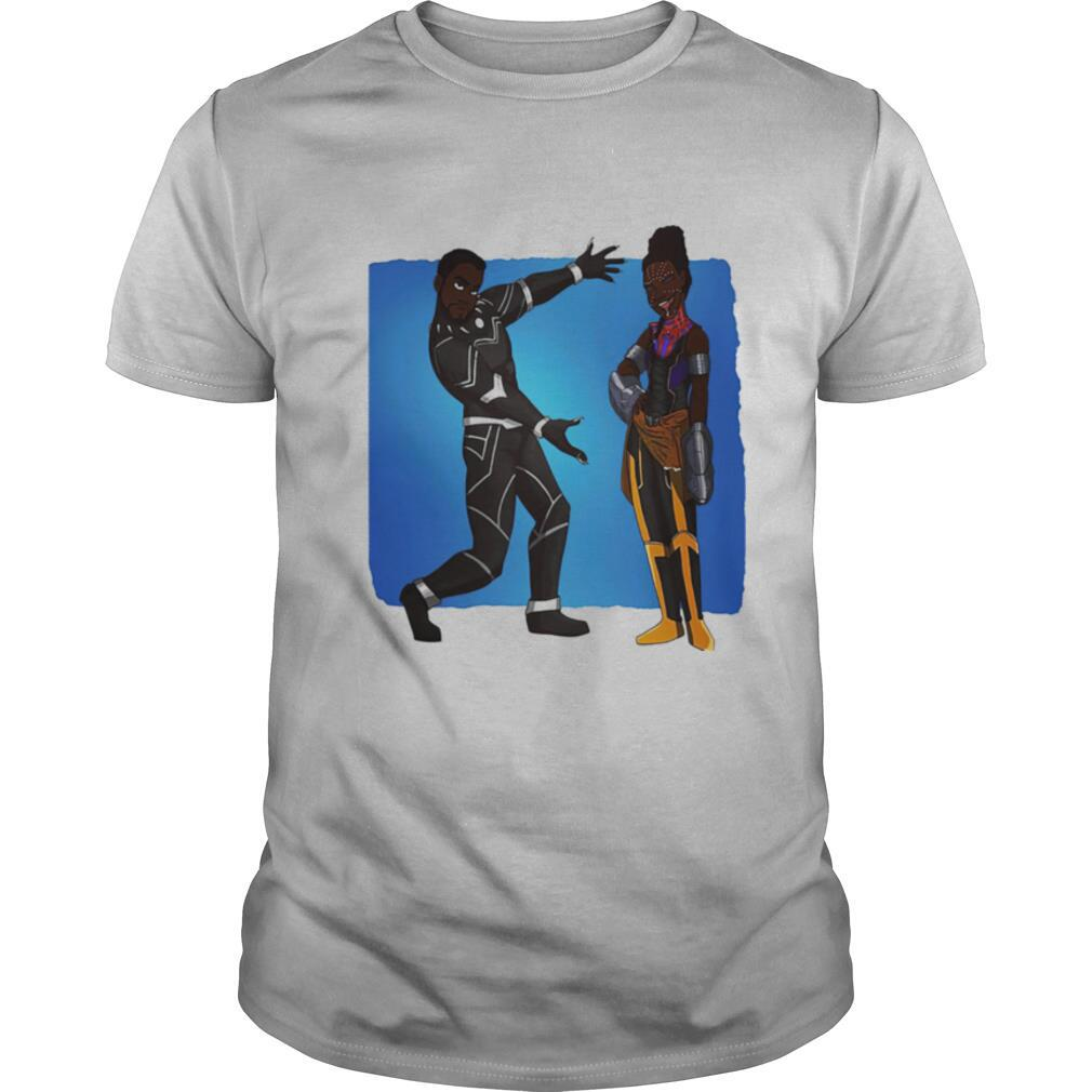 T'challa and shuri black panther marvel heroes shirt