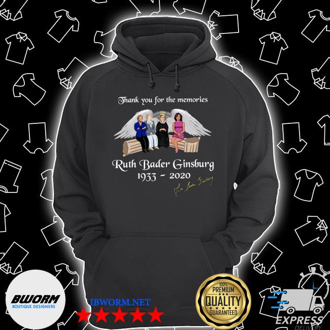 Thank you for the memories ruth bader ginsburg 1933-2020 s Unisex Hoodie