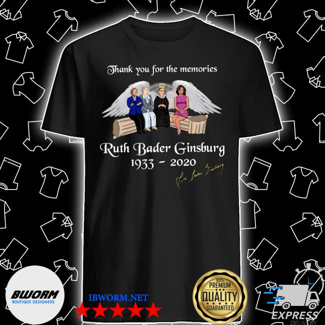 Thank you for the memories ruth bader ginsburg 1933-2020 shirt