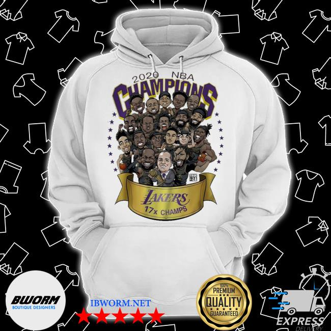 2020 nba champions los angeles lakers 17 champs cartoon s Classic Hoodie