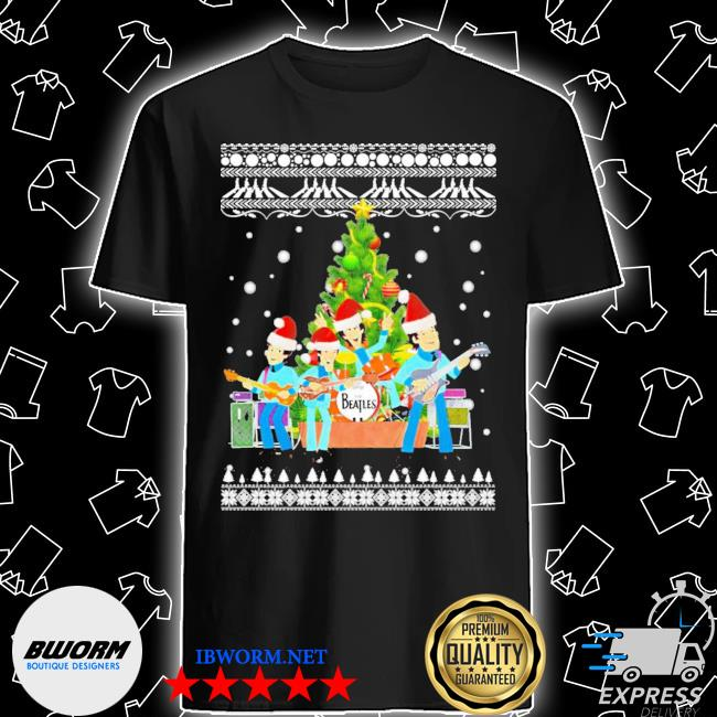 2020 The beatles chibi christmas tree ugly christmas sweater