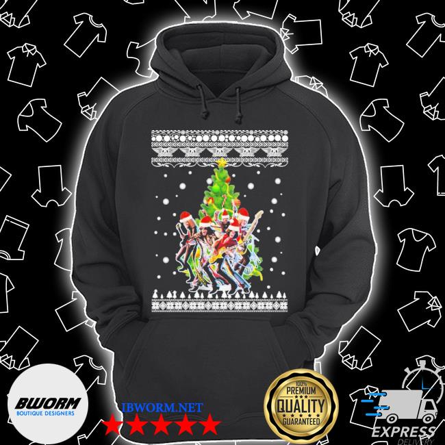 Aerosmith christmas tree ugly christmas sweater Unisex Hoodie