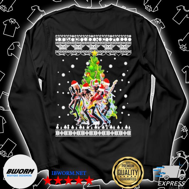 Aerosmith christmas tree ugly christmas sweater Unisex Long Sleeve Tee