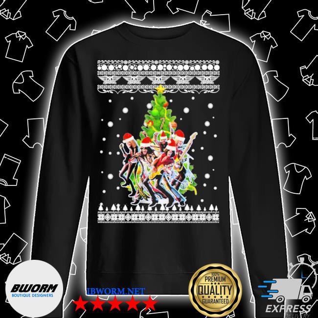 Aerosmith christmas tree ugly christmas sweater Unisex Sweatshirt