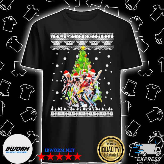 Aerosmith christmas tree ugly christmas sweater