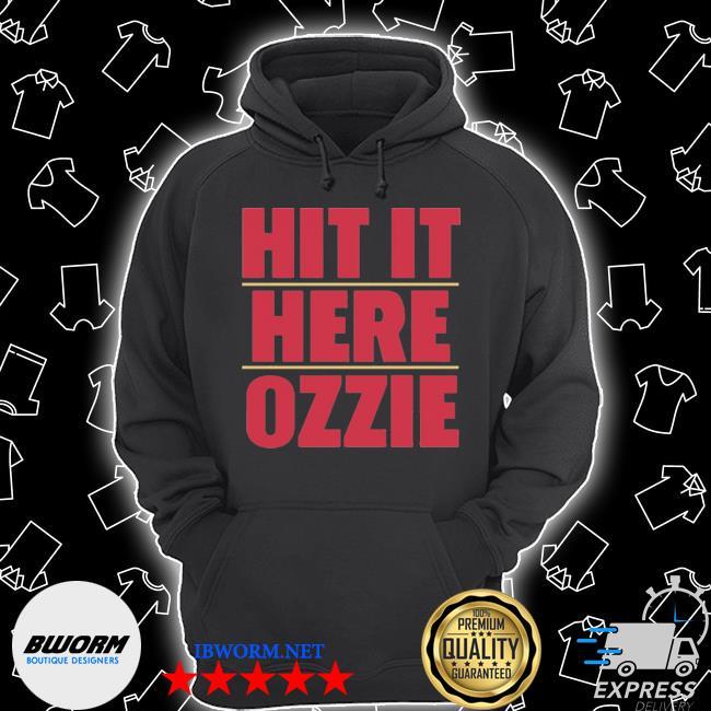 Atlanta braves hit it here ozzie s Unisex Hoodie
