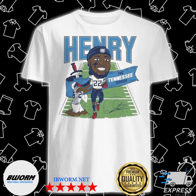 Derrick henry the tennessee terror signature shirt