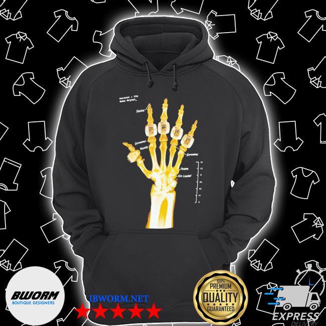 Kobe bryant hand gold rings x-ray s Unisex Hoodie