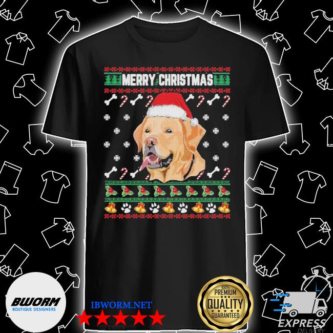 Labrador merry xmas ugly christmas shirt