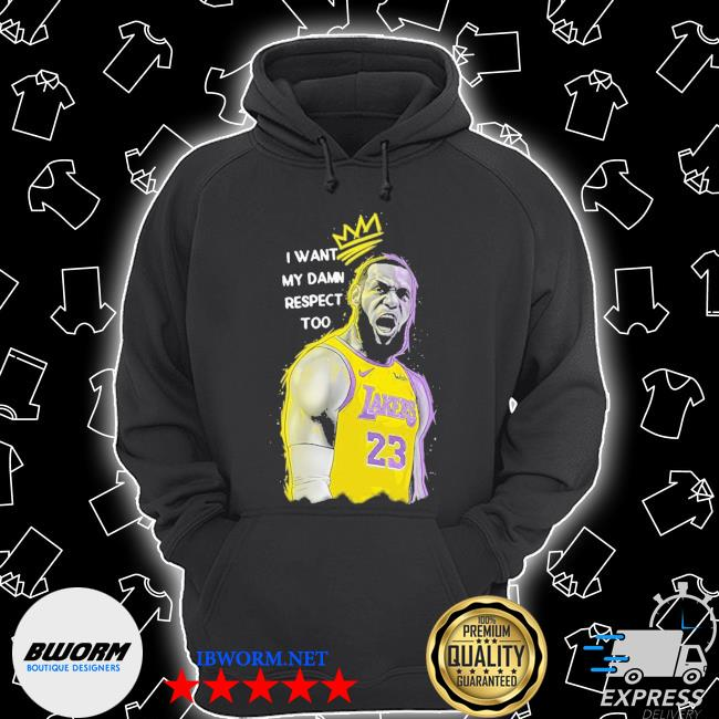 Lakers lebron james mvp I want my damn respect too signature s Unisex Hoodie