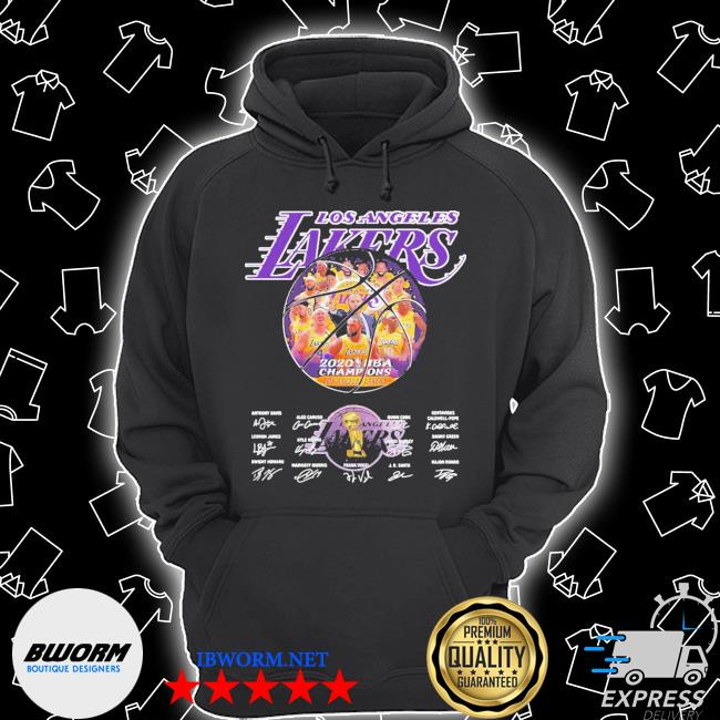 Los angeles lakers 2020 nba champions all players signatures s Unisex Hoodie