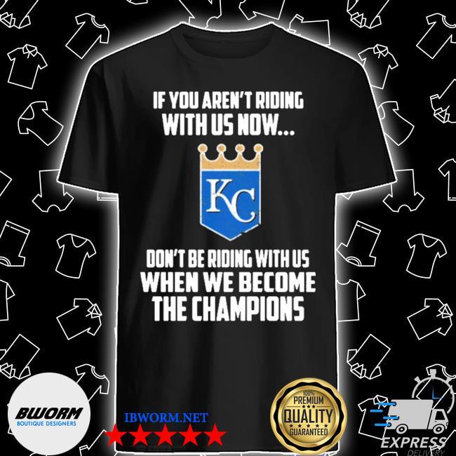 Mlb kansas city royals baseball we become the champions 2020 shirt