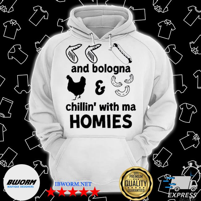 Official chicken wing hot dog and bologna chicken and macaroni chillin with ma homies s Classic Hoodie