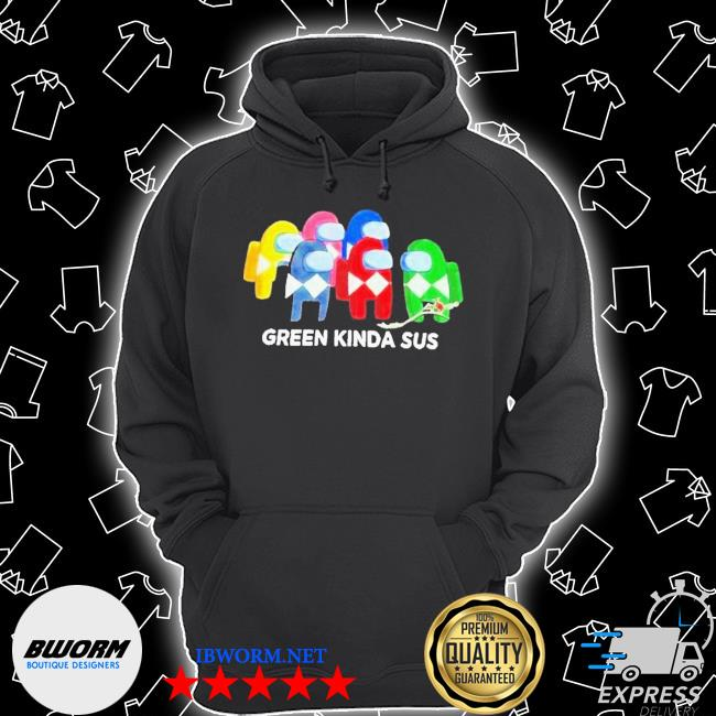 Power rangers among us green kinda sus s Unisex Hoodie