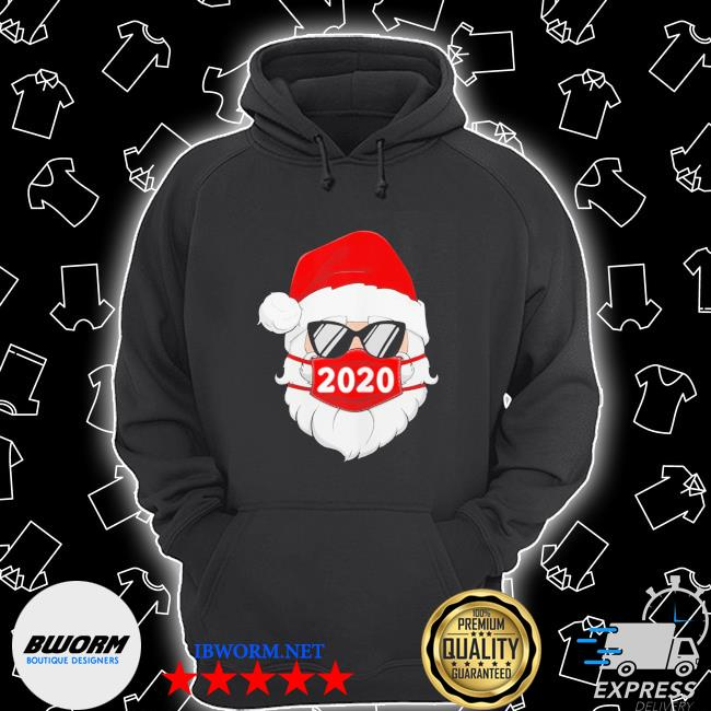 Santa with face mask 2020 christmas s Unisex Hoodie
