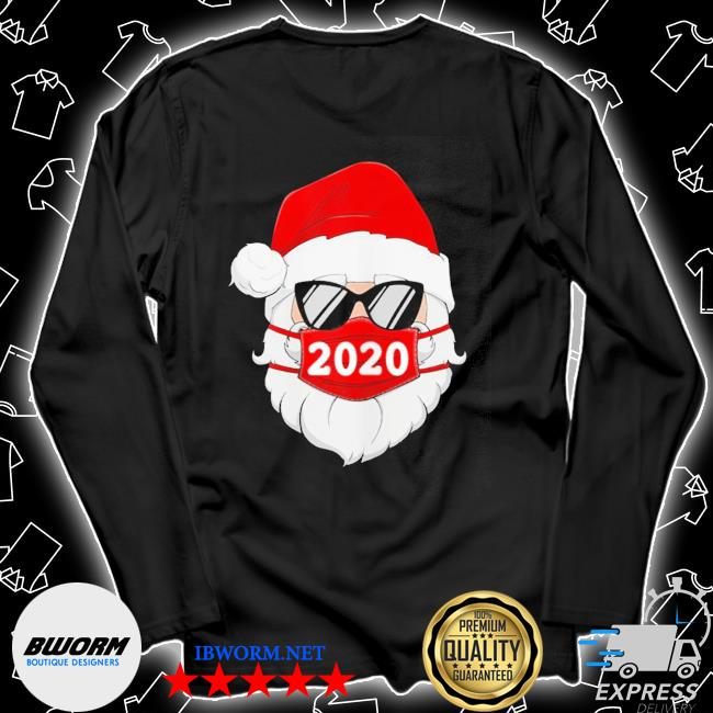 Santa with face mask 2020 christmas s Unisex Long Sleeve Tee