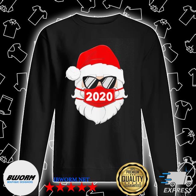 Santa with face mask 2020 christmas s Unisex Sweatshirt