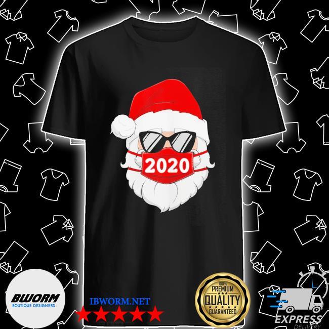 Santa with face mask 2020 christmas shirt