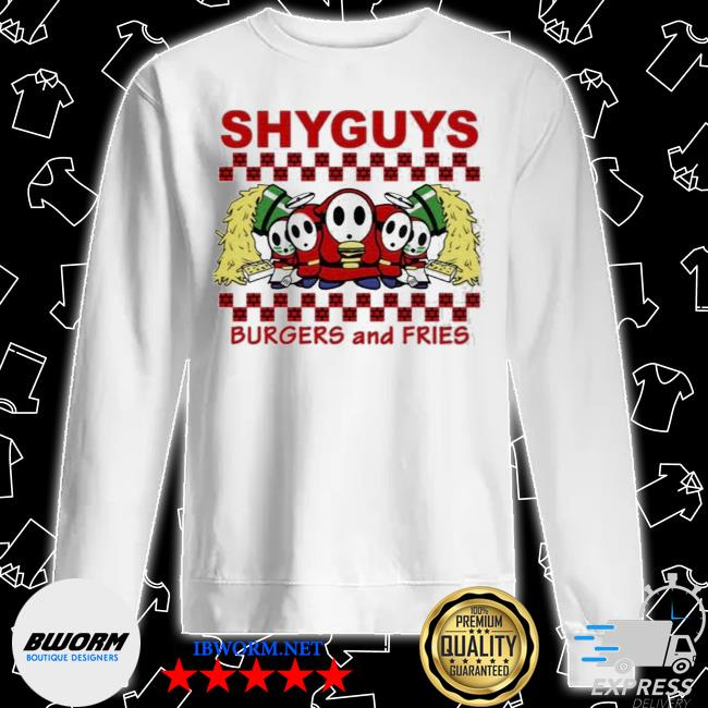 Shyguys burgers and fries s Unisex Sweater