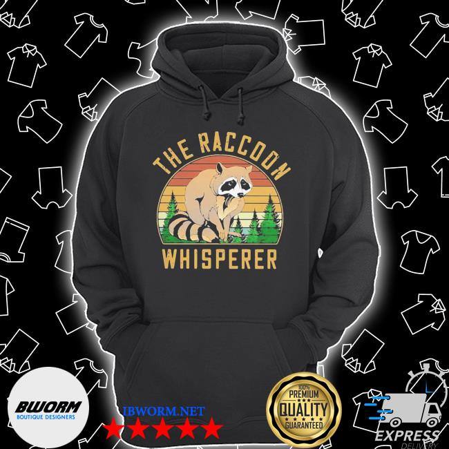 The racoon whisperer vintage retro s Unisex Hoodie