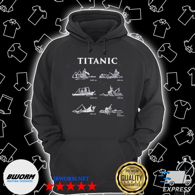 Titanic sinking gift poster vintage memorabilia movie s Unisex Hoodie