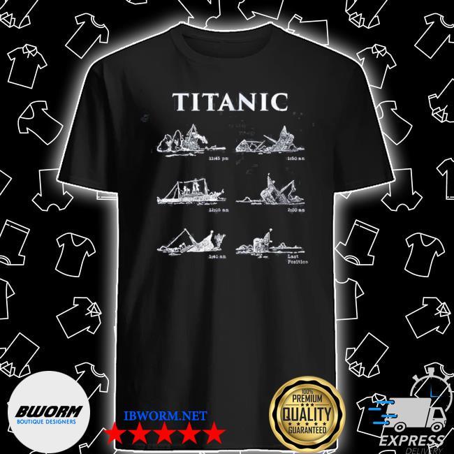 Titanic sinking gift poster vintage memorabilia movie shirt