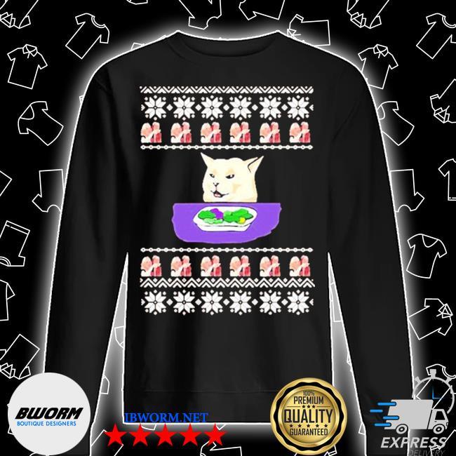 Woman yelling cat meme 2020 ugly christmas s Unisex Sweatshirt