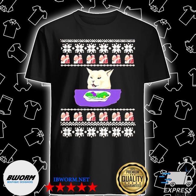 Woman yelling cat meme 2020 ugly christmas shirt
