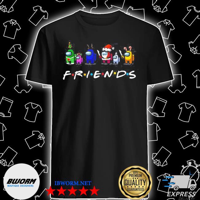 Official among us friends christmas shirt
