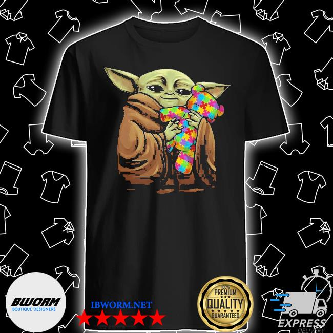Official baby yoda hug teddy autism disney shirt