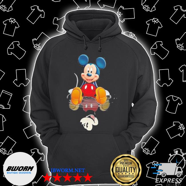 Official mickey present water mirror reflection s Unisex Hoodie