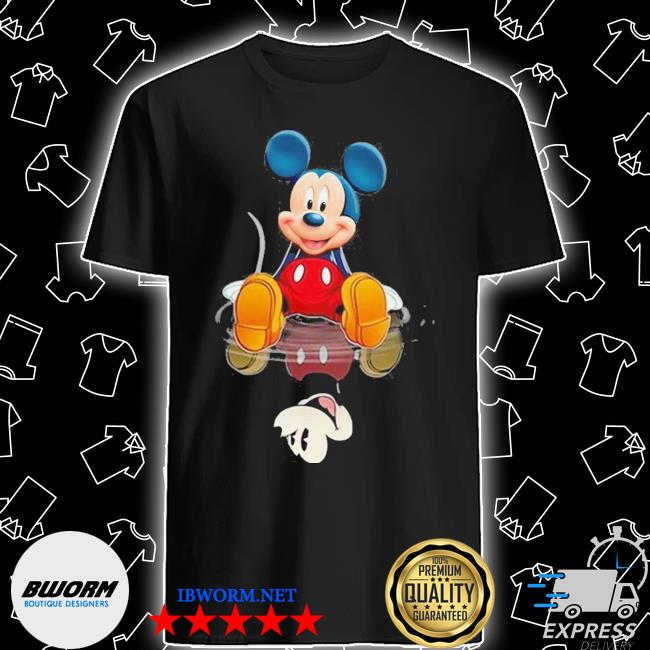Official mickey present water mirror reflection shirt