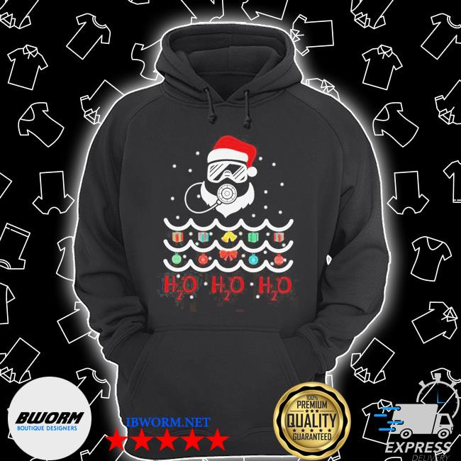 Official santa claus diving christmas tree ugly s Unisex Hoodie