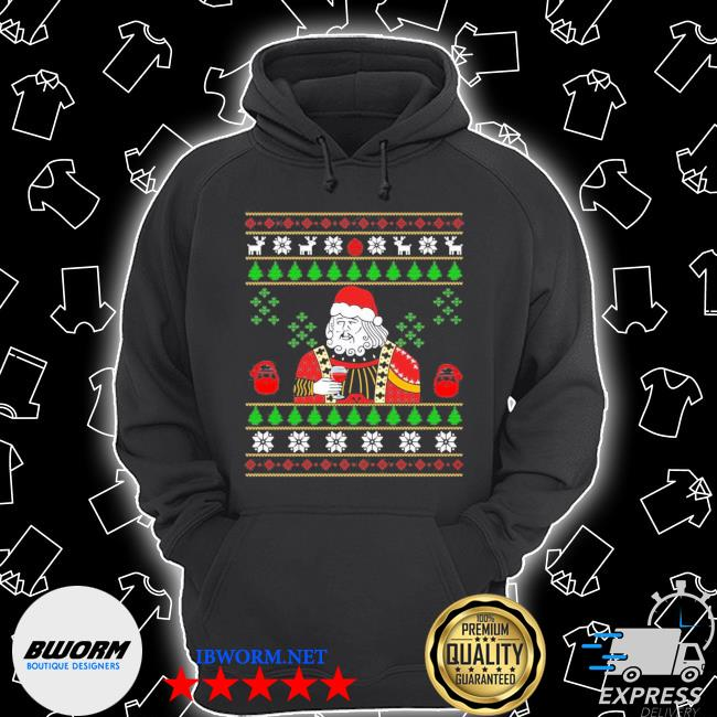 Official santa leonardo big fat jumper ugly christmas s Unisex Hoodie
