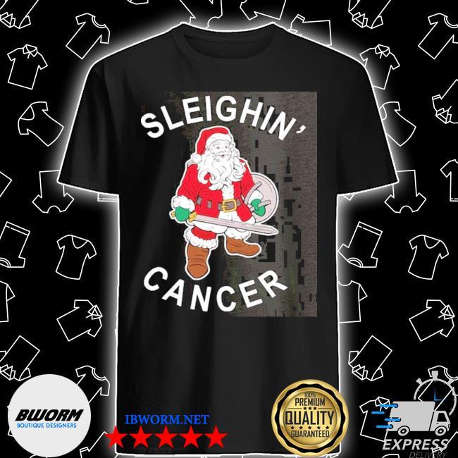 Official santa sleighin cancer christmas shirt