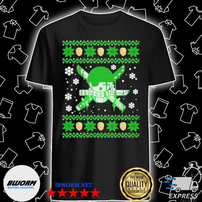 Official zoro ugly christmas shirt