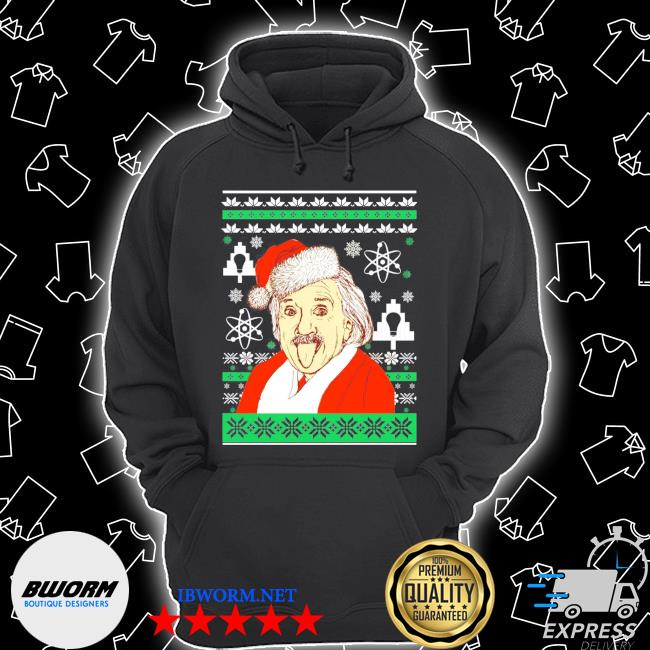 Official albert einstein ugly christmas shirt s Unisex Hoodie