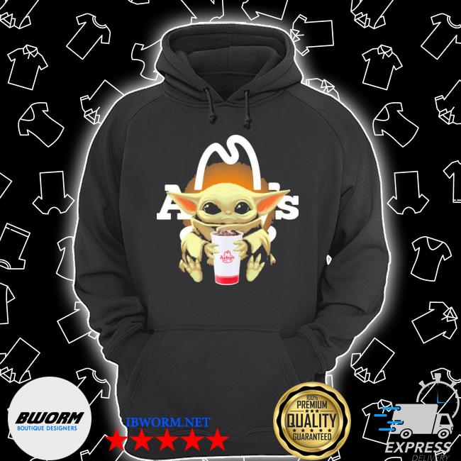 Official baby yoda hugs arby's s Unisex Hoodie