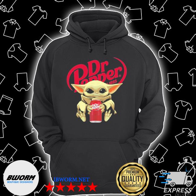 Official baby yoda hugs dr pepper s Unisex Hoodie