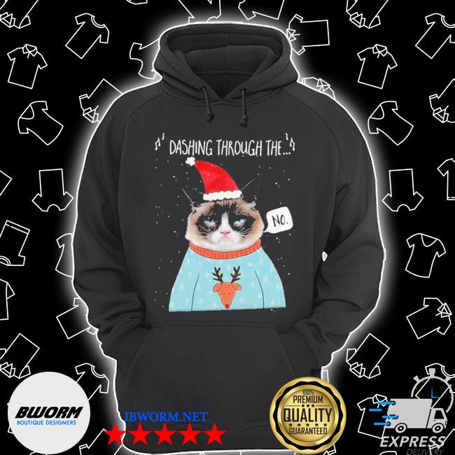Official cat santa dashing through the no merry christmas s Unisex Hoodie