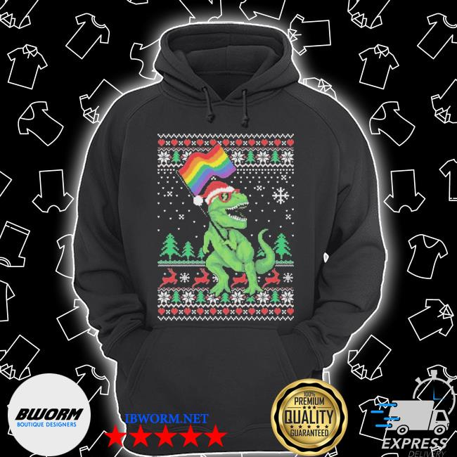 Official dinosaur lgbt ugly christmas s Unisex Hoodie
