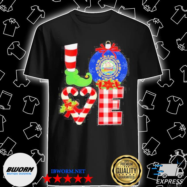 Official elf love seal of the state of hampshire 1776 christmas shirt