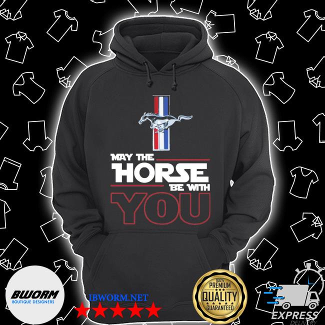 Official ford mustang may the horse be with you s Unisex Hoodie
