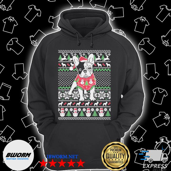 Official french dog ugly christmas s Unisex Hoodie
