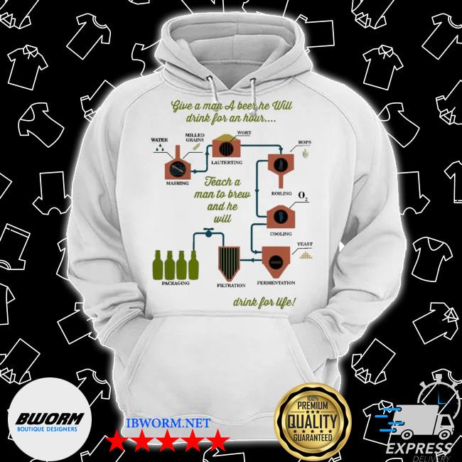 Official give a man a beer he will drink for an hour drink for life s Classic Hoodie