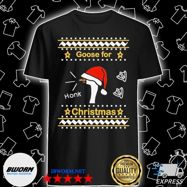 Official goose ugly christmas shirt